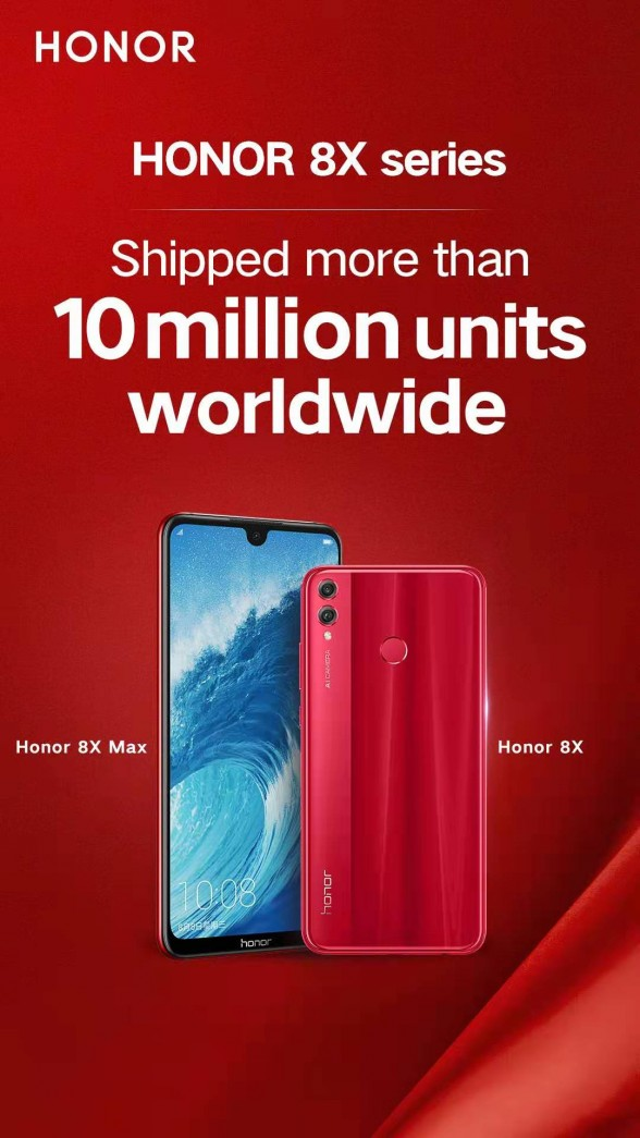 Honor 8X sales performance